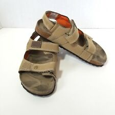 Cherokee Unisex Footbed Sandals Kids Sz 12 Shoes Slip On Khaki Tan Camo