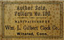 ANTIQUE CLOCK  Wm. L. Gilbert  LABEL parts ADD A NAME