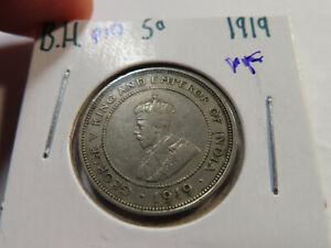 P10 British Honduras 1919 5 Cents VF