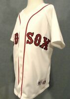 Dustin Pedroia #15 Boston Red Sox MLB Jersey Youth S Majestic Sewn White Vintage