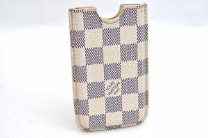 Authentic Louis Vuitton Damier Azur Iphone 4 Hard Phone Case LV A0247