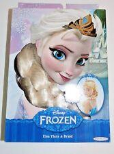New Disney Frozen Princess Elsa's Tiara & Braid Crown Anna 's Sister Hair Wig