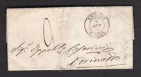 Italia Regno lettera 1862 URBINO-CORINALDO +timbro AMBULANTE FERR. BOLOGNA-AN.