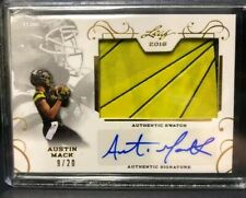 Austin Mack 2016 Leaf US Army All-American Patch Autograph Auto #/20 Ohio State