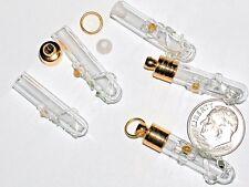 1 Small Envolvente Flor Margarita Frasco Cristal Colgante Charm con / Oro Pl