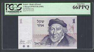 Israel One Lirot 1978/5738 P43a Uncirculated Grade 66
