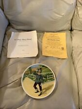 """Knowles 1977 The Wizard Of Oz """"If I Only Had A Brain"""" Scarecrow Coll. Plate"""