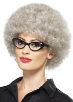 Adult Grey Curly Granny Perm Wig