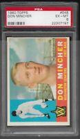 1960 Topps Don Mincher Washington Senators #548 PSA 6 EX-MT SET BREAK Rookie