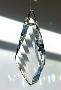 """Swarovski 50mm / 2"""" Bird Wing Austrian Crystal Clear Prism Suncatcher w Logo"""