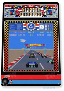 Pole Position Arcade Sign, Classic Arcade Game Marquee, Game Room Tin Sign C445