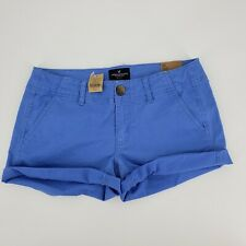 New American Eagle Shorts Short Blue Shortie Twill Chino Stretch Size 2