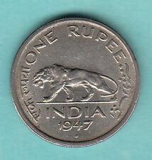 ONE RS BRITISH  GEORGE  VI  1947  yrs  mumbai  mint  copper  nickel  coin