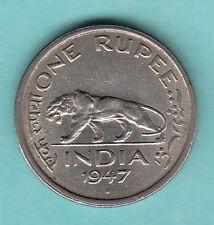 ONE RS BRITISH  GEORGE  VI  1947  yrs  mumbai  mint  copper  nickel  coin
