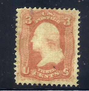 US Stamps  - #94 - MNG - 3 cent Washington Issue w/F Grill - CV  $150