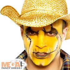 Yellow Cream Make Up Fancy Dress Halloween Spooky Kids Adults Costume Face Paint