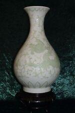 Chinese Celadon Dragon Vase With Blue Yongzheng Mark