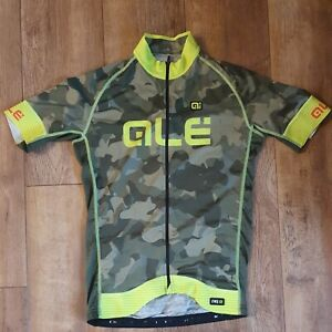 ALE Cycling Jersey Graphics PRR Camo MEDIUM Top Reflective Italy Green Shirt