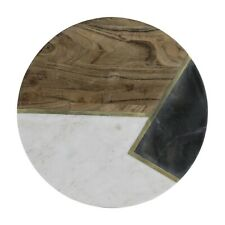 Elements Marble/Acacia Round 30cm Chopping Serving Board Kitchenware Housewares