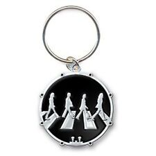The Beatles Crossing Abbey Road Black Circle Metal Keychain Keyring Fan Official