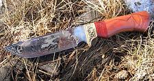 "Russia Handmade Knife Model ""Hunting"" Steel 65H13 HRC 58 + Scabbard #n3"
