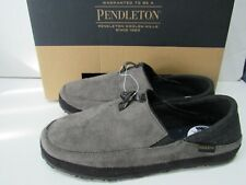 Pendleton Gray Cushioned Slip-On Indoor/Outdoor Slippers Mens size 9
