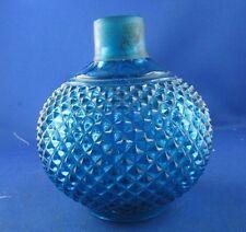 ancien toilette parfum flacon cristal de baccarat bleu epoque XIXe