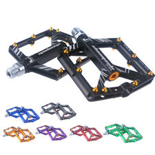 "MTB Road Bike Pedals Ultra-light 9/16"" 4 Bearing Cycling Aluminum Platform/Flat"