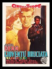 REBEL WITHOUT A CAUSE CineMasterpieces JAMES DEAN ITALIAN ITALY MOVIE POSTER '55