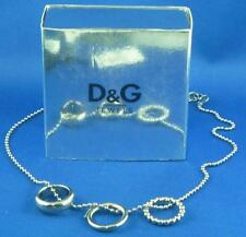 Dolce & Gabbana Three-Ring Motif Necklace DJ0663 - Sealed in Plastic - SILVER