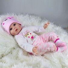 "22"" Lifelike Newborn Silicone Vinyl Reborn Gift Baby Doll HandmadeBaby Dolls CA"