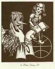 Bookplate / Exlibris  Mario de Filippis - Pinocchio