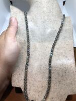 Vintage Genuine Labradorite Beaded Necklace