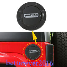 Aluminum Fuel Filler Gas Tank Cap Cover without Key For Jeep Wrangler JK 2007-17