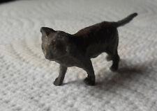 Vintage Miniature Cold Painted Cat Figurine