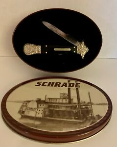 SCHRADE Classic Folding Pocket Knife Stewart Taylor & Sons With Tin Box Model