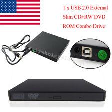 24x CD-R 8x CD-RW USB 2.0 External DVD Combo CD-RW CD±RW Burner Drive USA for os