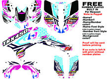 TRX450R LOGO NINETYSIX GRAPHIC KIT WHT/EL FULL WRAP 06-07 HONDA 450 TRX450