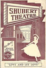 "Ginger Rogers ""LOVE and LET LOVE"" Tom Helmore 1951 FLOP Tryout Playbill"