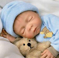 SWEET Dreams Baby! Lifelike Collectible 18 Inch Newborn Boy Doll