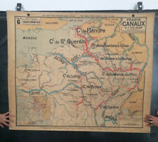 Ancienne Carte Scolaire Vidal Lablache - France Canaux N°6 - School Map