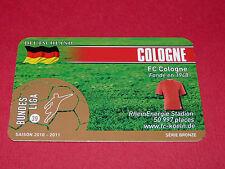RARE FOOTBALL CARD FOOT2PASS 2010-2011 1. FC KÖLN COLOGNE FUSSBALL BUNDESLIGA