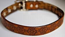 Celtic design lockable leather collar Choose color  locking option