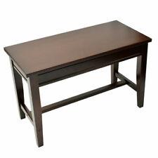 Frederick Extended Upright Piano Bench Mahogany Satin