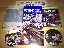XBOX 360 SBK X SUPERBIKE WORLD CHAMPIONSHIP COLECCIONISTA PAL ESPAÑA COMPLETO