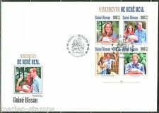 GUINEA BISSAU 2013  BIRTH OF PRINCE GEORGE WITH PRINCE WILLIAM &  KATE   SHT FDC
