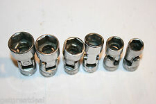 """SNAP-ON TOOLS 3/8"""" DRIVE SHALLOW UNIVERSAL 6-POINT SOCKET SET 6pc 7/16""""-3/4"""""""
