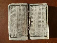 Ancien livre du XVIII° siècle, vieux livre de notaire, tableaux, intérets...