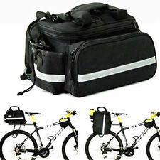 EXPANDABLE BICYCLE CYCLE PANNIER SADDLE REAR SEAT BIKE TRAVEL BAG WITH RAINCOVER