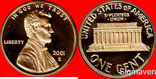 2001 S Lincoln Cent Deep Cameo Gem Proof No Reserve